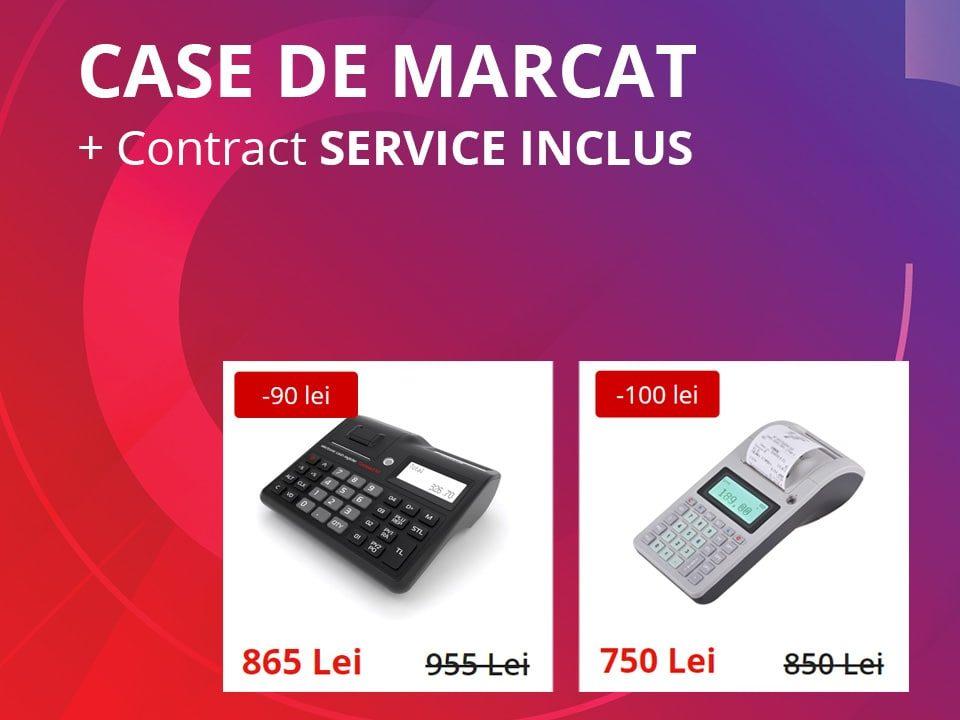 Oferta Case de marcat & Contract SERVICE Inclus aparatura fiscala