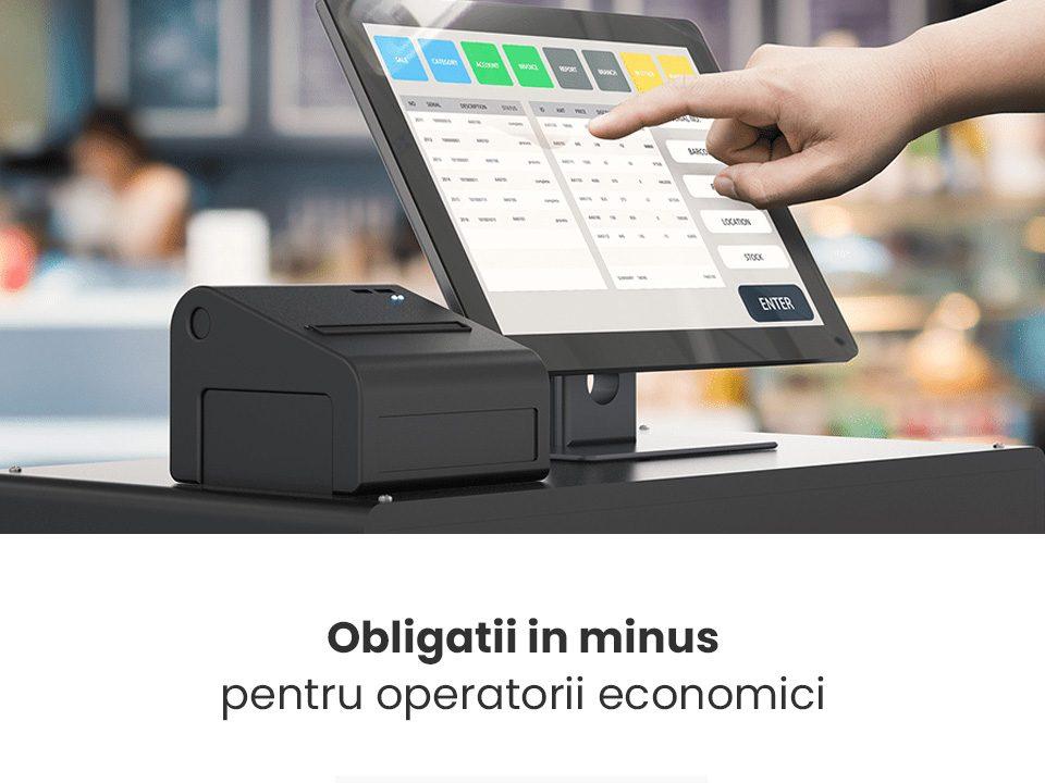 Obligatii in minus pentru operatorii economici | FISCAL ONLINE